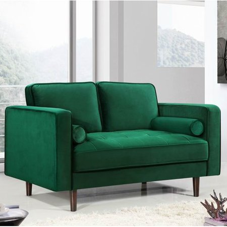 Everly Quinn Pamula Chesterfield Loveseat