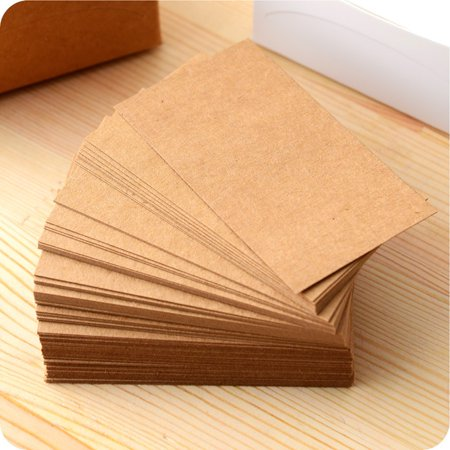 100pcs double sided blank kraft paper business cards word card 100pcs double sided blank kraft paper business cards word card message card diy gift card walmart reheart Image collections