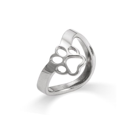 Thumb Ring Paw Print Cut Out, Sizes 7 to 10