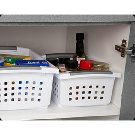 Sterilite Large Ultra Storage Organizer Basket (6 Pack) + Stacking Bins (6 Pack) - image 3 de 11
