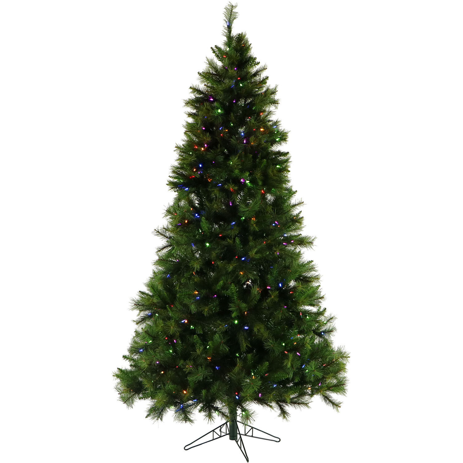 Fraser Hill Farm 7.5-Ft. Canyon Pine Artificial Christmas Tree with Multi-Color LED Lights and EZ Connect