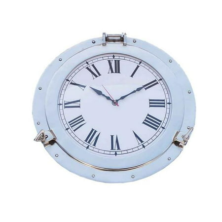 Handcrafted decor wc 1449 24 ch chrome decorative ship porthole clock 24 in - Decor wc ...