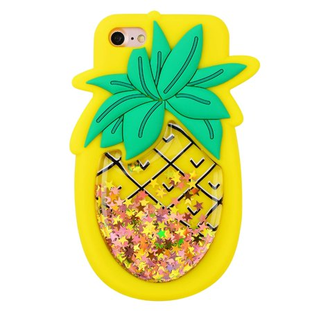 low priced ca1a4 ef8c1 Quicksand Pineapple Case for iPhone 5 5S SE 5C,Soft Cute Silicone 3D ...