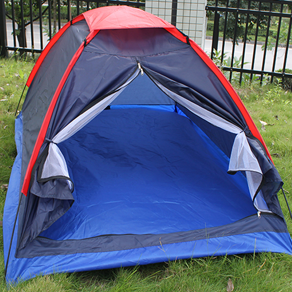 Camping Tent 2 Person Tent Folding Waterproof Single Layer Outdoor Tent