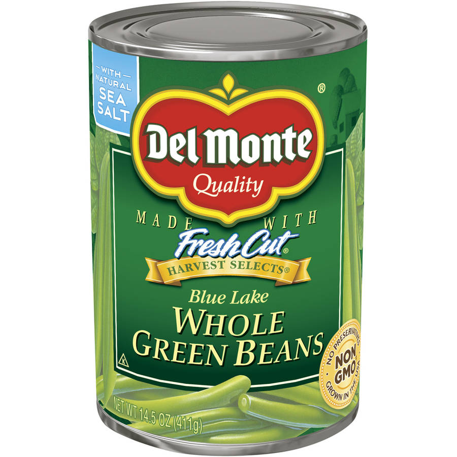 Del Monte Harvest Selects Fresh Cut Blue Lake Whole Green Beans, 14.5 oz