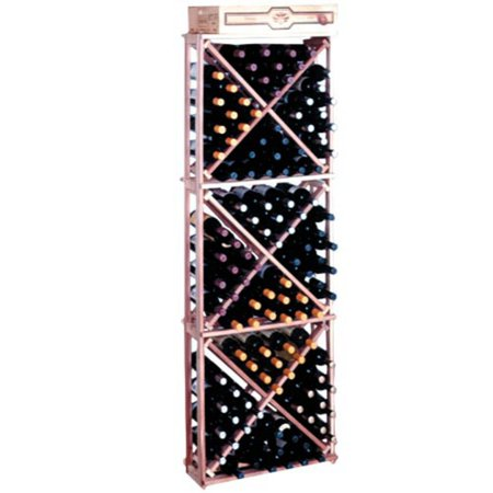 Traditional Series 132-Bottle Open Diamond Cubes Wine Rack