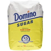 Sugar, Granulated, 10-Pound Bags, Bag containing 10-pounds of Domino Sugar By Domino