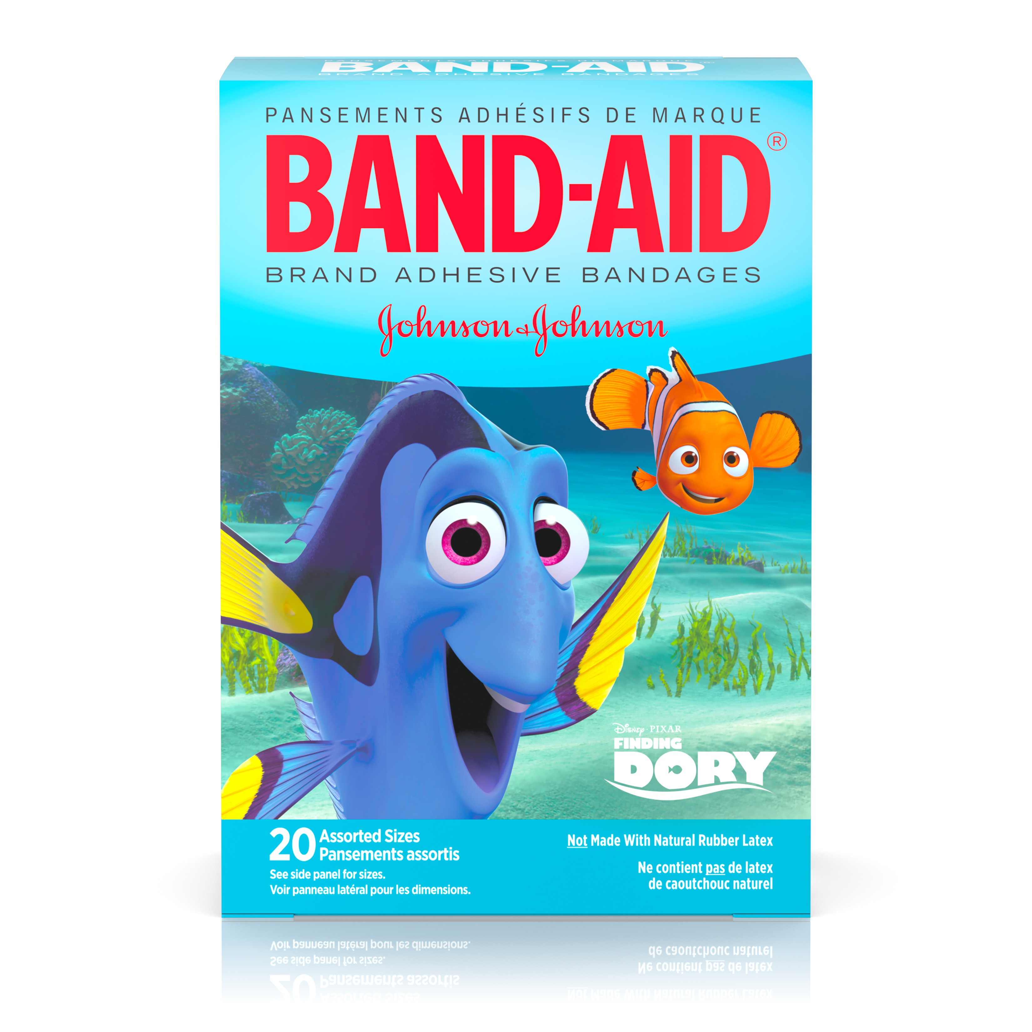 Band-Aid Bandages, Disney/Pixar Finding Dory, Assorted Sizes 20 ct