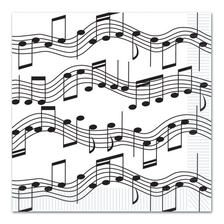 Musical Note Luncheon Napkins (2-Ply) (16/Pkg), Paper By Beistle](Musical Note Paper)