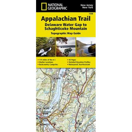 National Geographic Trails Illustrated Map: Appalachian Trail, Delaware Water Gap to Schaghticoke Mountain [new Jersey, New York] - Folded Map