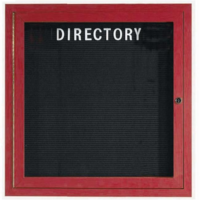 Aarco Products OADCW3636R Outdoor Directory Bulletin Board - Cherry