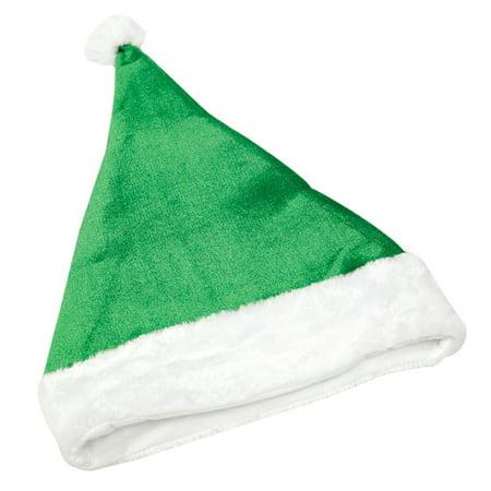 Classic Green Santa Hat - Lime Green Santa Hat