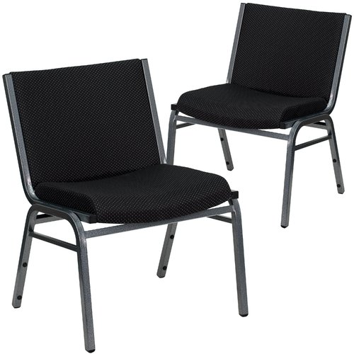 Flash Furniture Hercules Armless Fabric Stacking Chair (Set of 2)