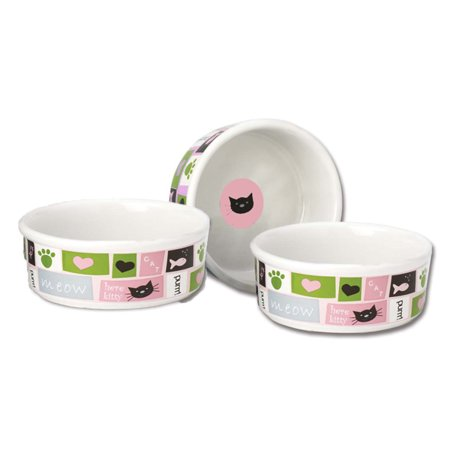 Meow Flair Cat Bowl - Pink - 5