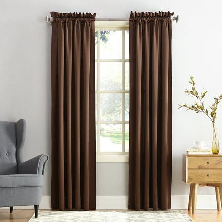 "108""x54"" Seymour Energy Efficient Room Darkening Rod Pocket Curtain Panel Chocolate - Sun Zero"