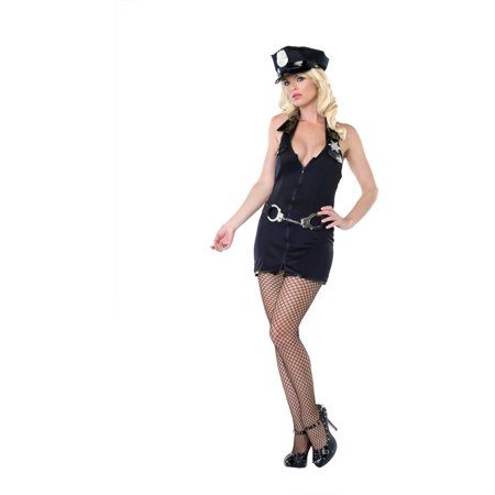 Police Women's Adult Halloween Costume, One Size, M/L (8-12) (Halloween Safety Tips From Police)
