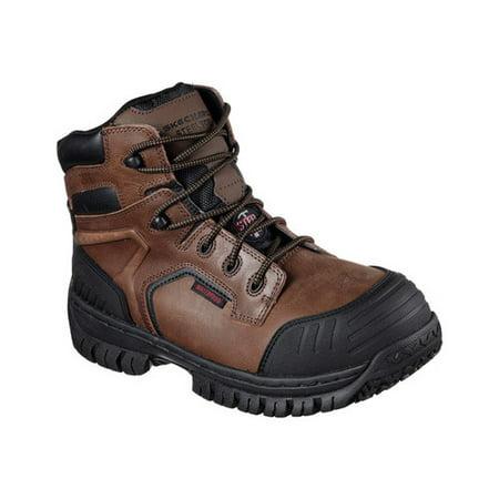 9ad1e3b7ab791 Men's Skechers Work Hartan Onkin Steel Toe Waterproof Boot - Walmart.com