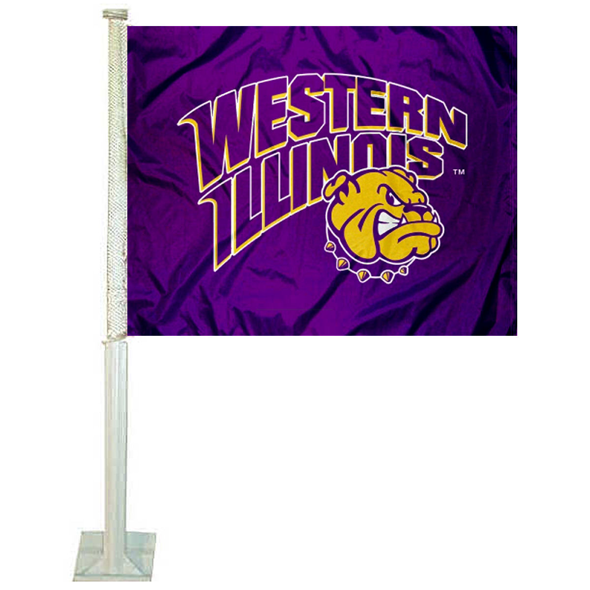 "Western Illinois University 12"" x 15"" Car Flag"