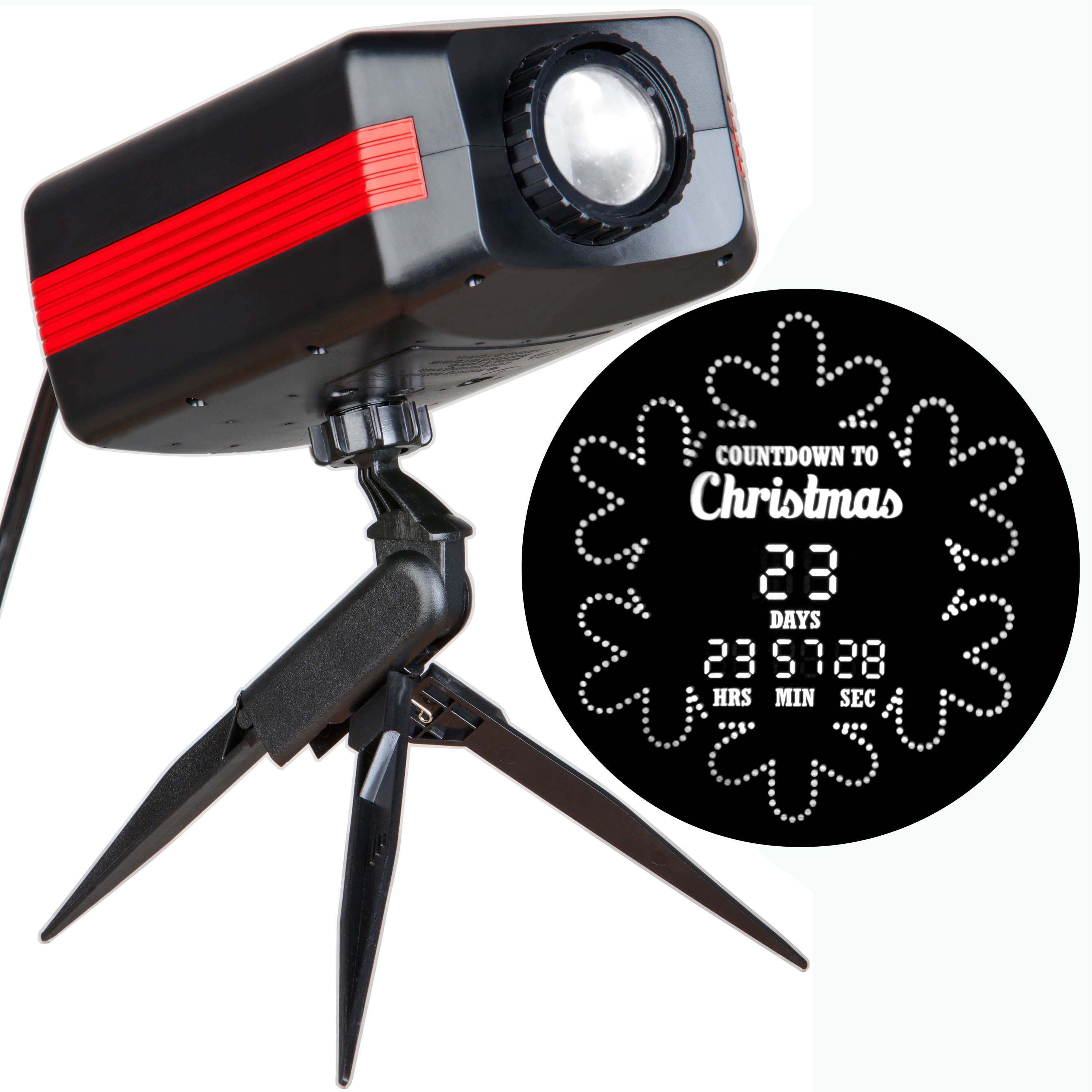 Lightshow Projection Light Countdown To Christmas Snowflake