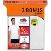 Bonus Pack! Fruit of the Loom Men's 6+2 Free White V-Neck  or Crew $11.99 w/In-Store PU + $5 off cou online deal