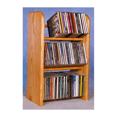 Dowel CD Rack w 3 Row (Honey Oak)