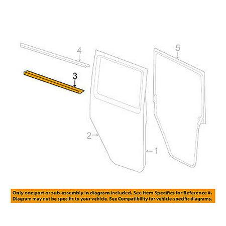 Rear Door Window Sweep-Belt Molding Weatherstrip Right 55395716AC (Right Rear Door Window)