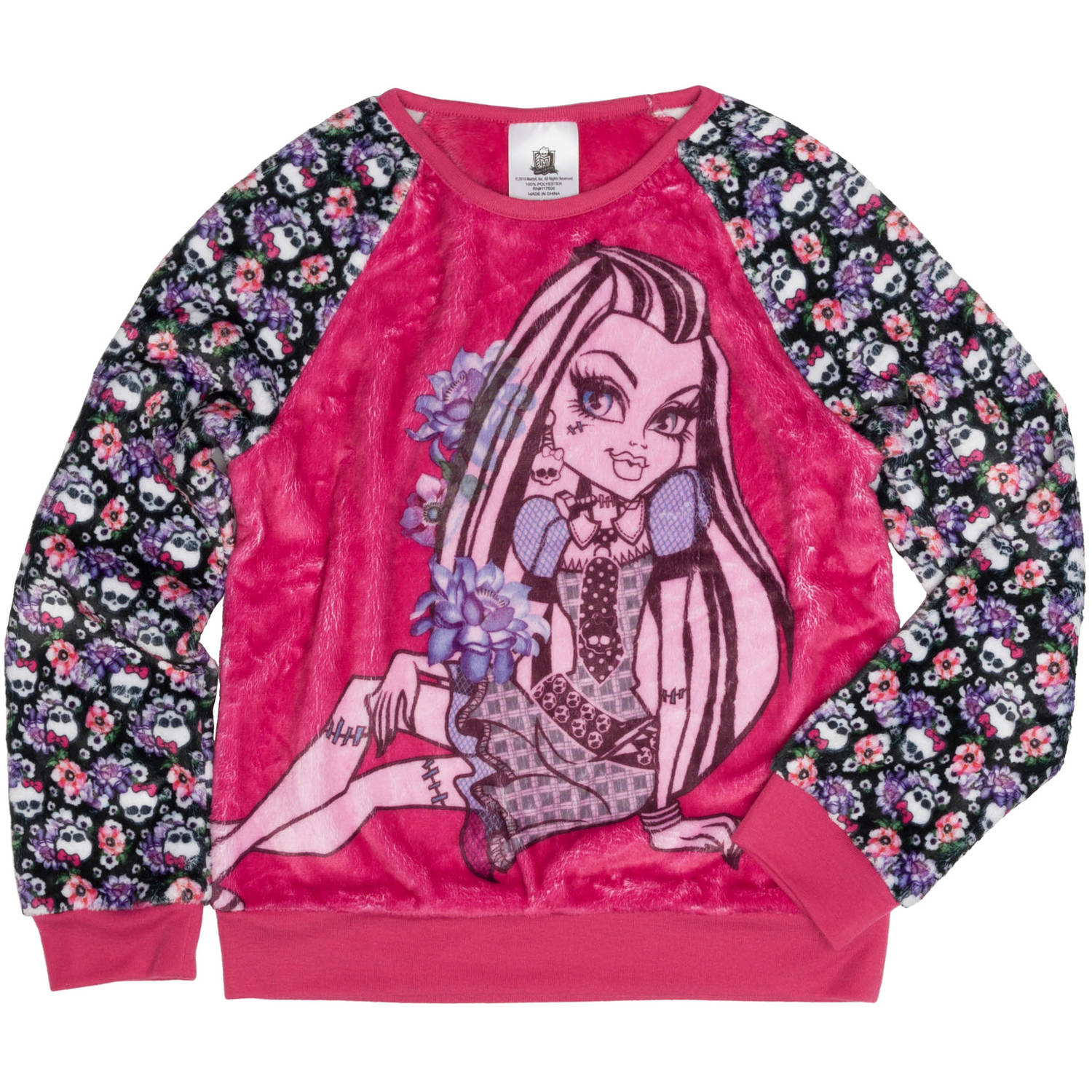 Monster High Girls' Bootiful Long Sleeve Crew Neck Sweatshirt