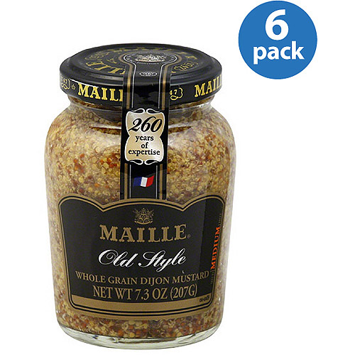 Maille Old Style Medium Whole Grain Dijon Mustard, 7.3 oz (Pack of 6)