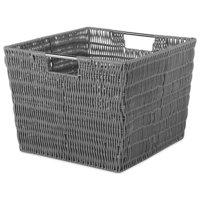 Whitmor 217914 13 x 15 x 9.8 in. Rattique Storage Tote - Gray