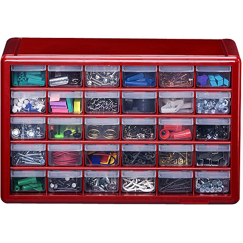 Stack On  Drawer Storage Cabinet Red
