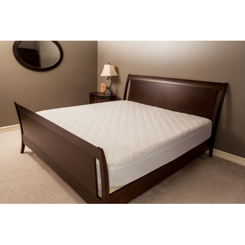 Deluxe Comfort Damask Stripe Mattress Pad