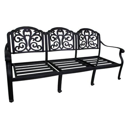 Paradise Cove Designs Santa Monica Cast Aluminum Deep Seating Outdoor Sofa