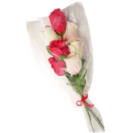 Valentine Decor Scented Multi Color Rose Bouquet ...