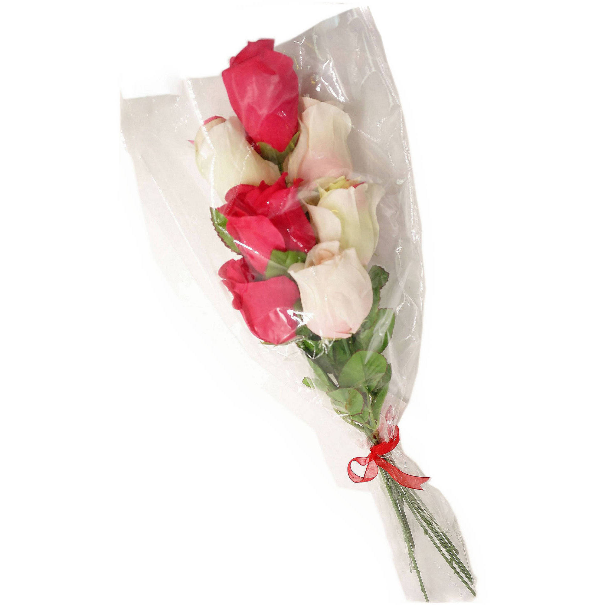 scented multi color rose bouquet artificial flower