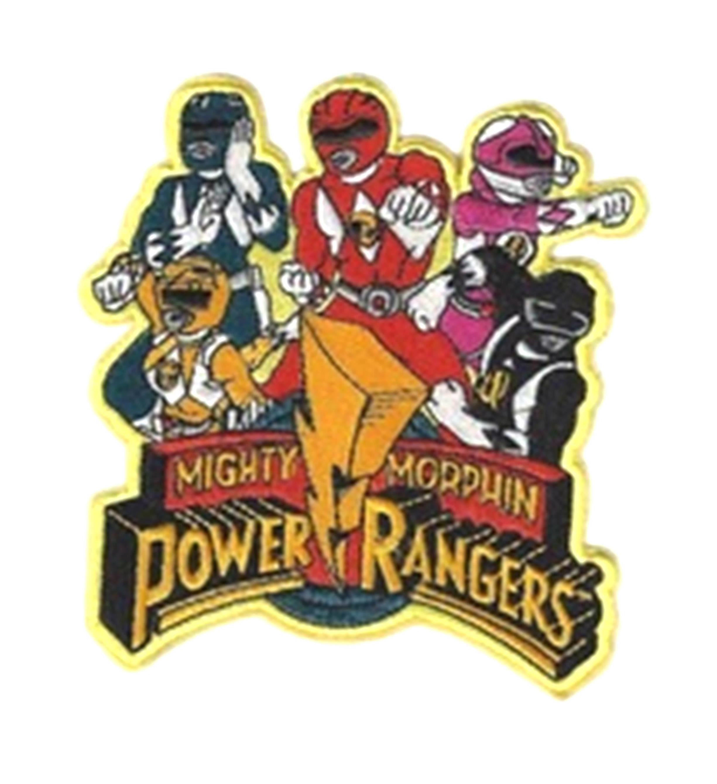 "Superheroes Power Rangers 4.5"" Embroidered Iron/Sew-on Applique Patch"