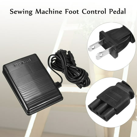 Sewing Machine Foot Speed Control Pedal For Babylock Elna Kenmore Singer (7 Hole Cording Foot)