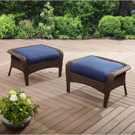 Better homes and gardens colebrook 2pk ottomans blue - Better home and garden furniture ...