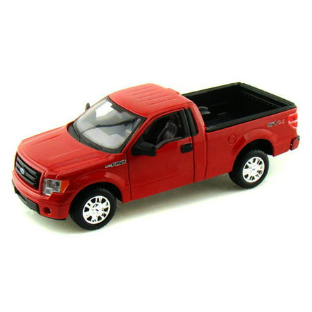 Ford F-150 STX Pickup Truck, Red - Maisto 31270 - 1/27 Scale Diecast Model Toy Car