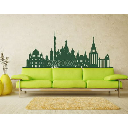 Moscow City Skyline Wall Decal - Cityscape Wall Sticker, Vinyl Wall ...