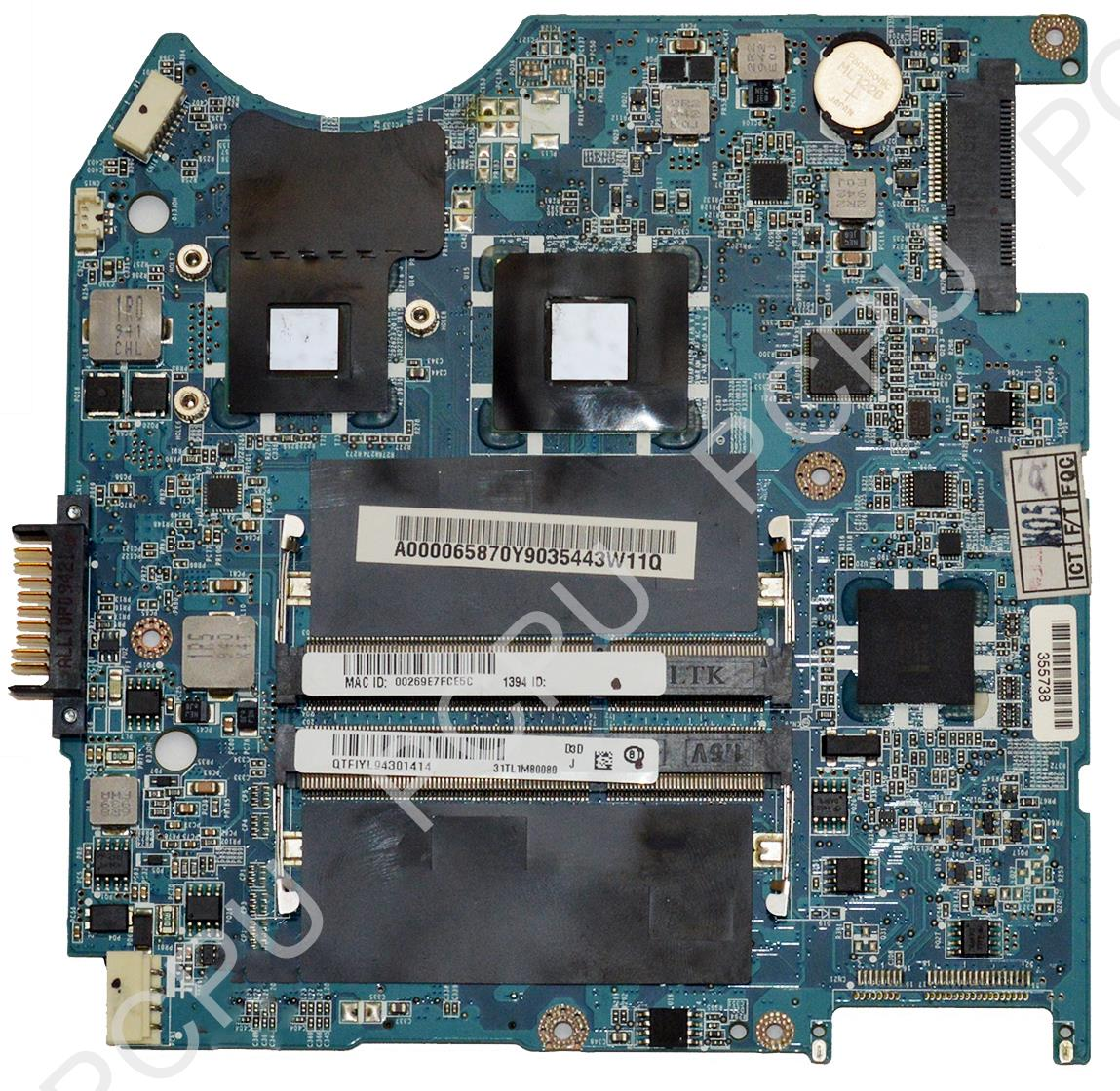A000065870 Toshiba Satellite T110 T115 Laptop Motherboard w/ Intel Pentium DC...