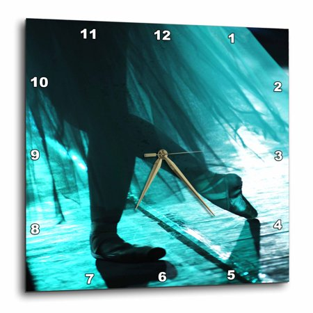 3dRose Ballet In Turquoise, Wall Clock, 15 by 15-inch ()