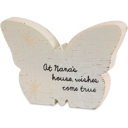 Pavilion - At Nana's House, Wishes Come True Yellow Butterfly Plaque 5