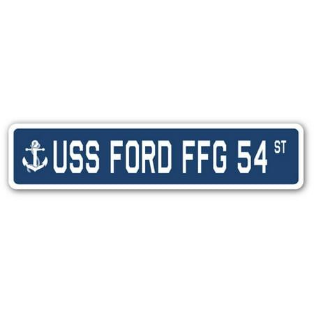 USS FORD FFG 54 Street Sign us navy ship veteran sailor gift