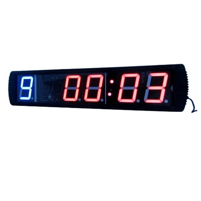 DLC IN1B4R 5 inch High Character LED Digital Wall Clock Red