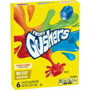 Fruit Snacks Gushers Variety Snack Pack 6 Pouches 0.9 oz Each