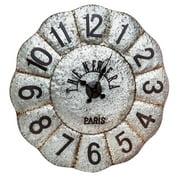 Evergreen Enterprises, Inc Oversized 33.9'' Vintage Galvanized Metal Wall Clock