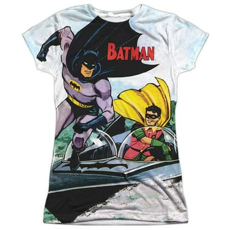 Batman  Batboat Girls Jr Sublimation White - Batman Girl Villains