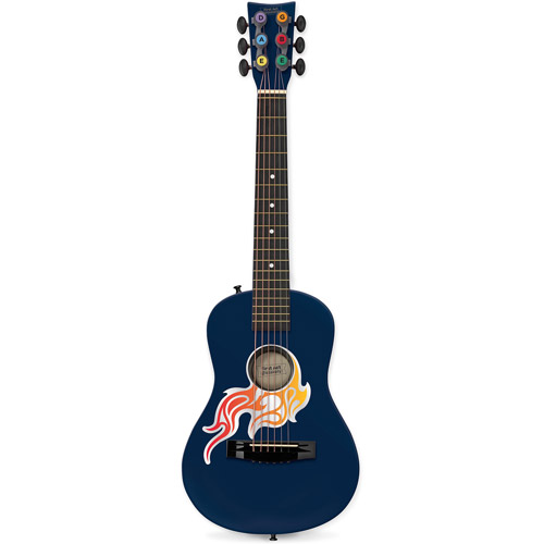 """First Act 30"""" Flame Bling Acoustic Guitar, Blue"""