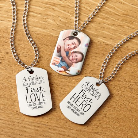 Personalized First Memories Photo Dog Tag - Hero