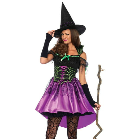 Spiderweb Witch Costume - Small - Dress Size 4-6 (Spider Web Witch Costume)